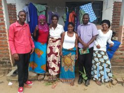 L-R: Thomas, Violet, Memory, Bertha, Ally and Fanny - One Love Tailoring Group