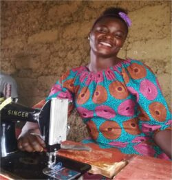 Mamai trained as a tailor with Craftshare in Sierra Leone