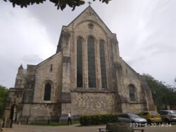 Front of Romsey Abbey